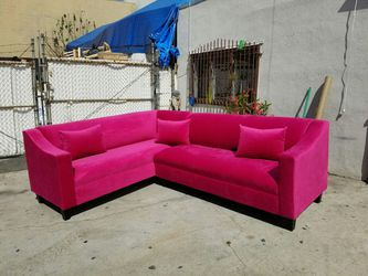 NEW 7X9FT PINK FABRIC SECTIONAL COUCHES for Sale in Huntington Beach,  CA