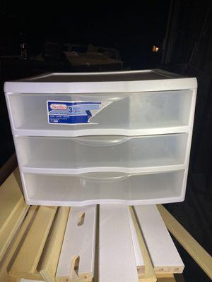 3 drawer plastic organizer for Sale in La Habra, CA