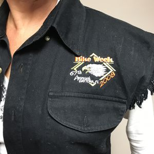 Women's denim motorcycle vest for Sale in Wheaton, IL