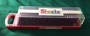 """Sizzix Sizzlits """"Script"""" Alphabet Set 35 Dies Cut & Case for Sale in Montclair, CA"""