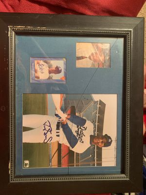 Signed Darryl Strawberry Picture Display for Sale in Reedley, CA