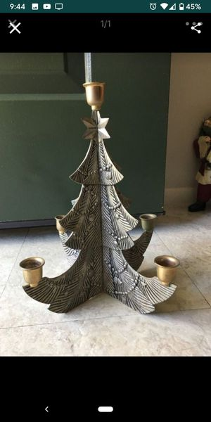 Christmas candle holder for Sale in St. Petersburg, FL
