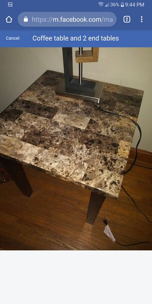 Coffee table and 2 end tables for Sale in Murfreesboro, TN