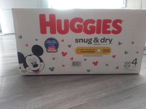 Huggies size 4 diapers for Sale in Las Vegas, NV