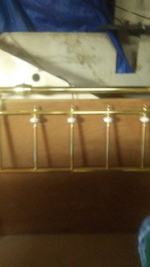 Brass bed frame just head piece for Sale in Thomson, GA