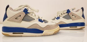 Youth Size Air Jordan 4 Retro (GS) 2006 Military Blue Size 4.5Y 308498-141 for Sale in San Diego, CA