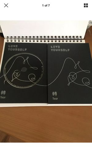 BTS kpop boy band cd Love yourself tears comes as shown book and cd a great condition for Sale in Glendale, CA