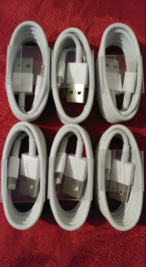 6 for $25 Brand New iPhone Charging Cables 3FT Long New for Sale in Las Vegas, NV