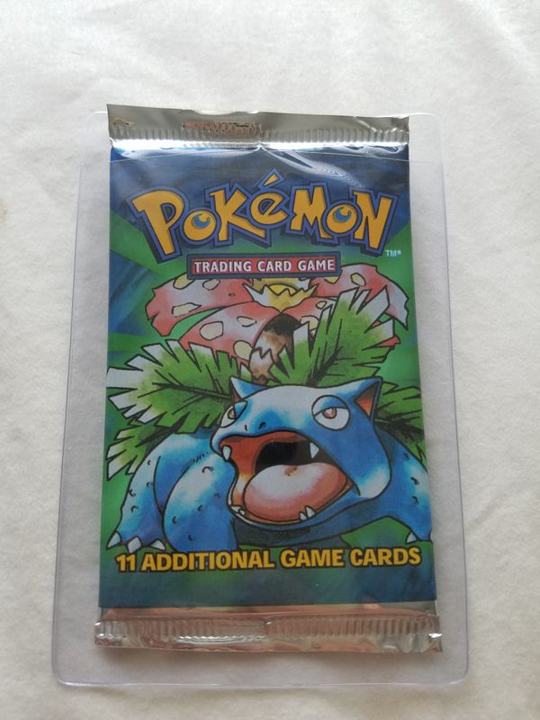 Pokemon Base Set Booster Pack - Weighed Light