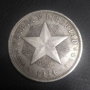 1 Peso 1934 Cuba. Star. MS-61 for Sale in Houston, TX
