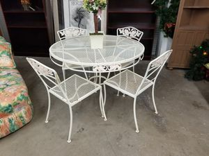 Patio table w/4 chairs 🎃 We are located at 2811 E. Bell Rd. We are Another Time Around Furniture for Sale in Phoenix, AZ