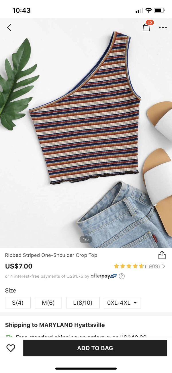 SHEIN one shoulder crop top