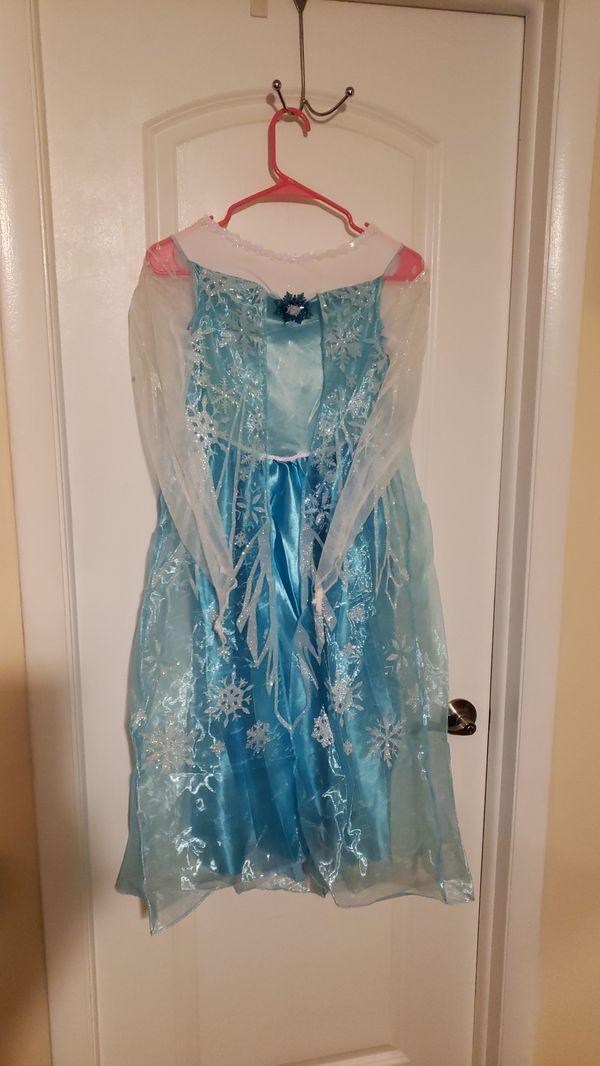 Frozen Elsa Blue dress large 10-12