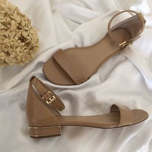 Michael Kors Patent Flat Sandals-Nude for Sale in Decatur, GA