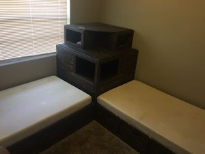 2 twin bed with tv stand and dresser drawers for Sale in Pensacola, FL