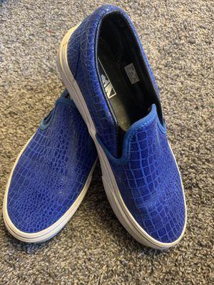 Women's Blue alligator skin Vans Size 7 for Sale in Tacoma, WA
