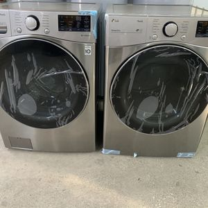 NEW Large Capacity LG Front Load Washer And Dryer Set! WE FINANCE, No Credit Checks! for Sale in Houston, TX