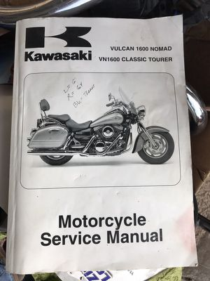Kawasaki Vulcan Nomad motorcycle service manual. for Sale in Aumsville, OR