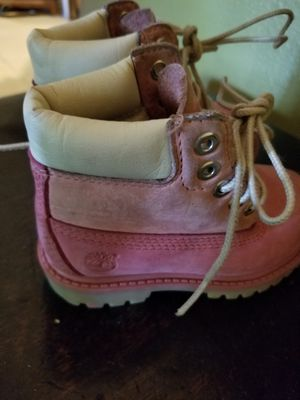 Toddler size 6.5 pink Timberland suede boots for Sale in Sun City Center, FL