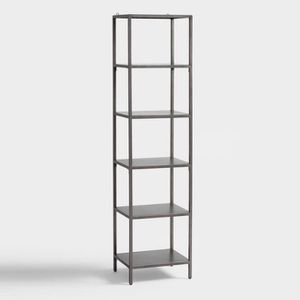 NEW – World Market – Gunmetal Holden Open 5 Shelf Tower Bookcase for Sale in Fairfax, VA