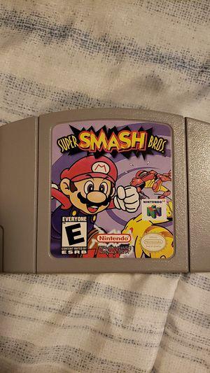 Nintendo 64 super smash bros for Sale in Des Moines, WA