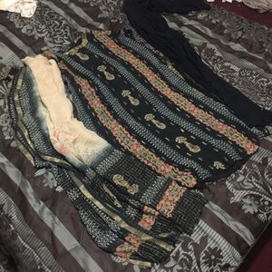 """Pakistani Indian Shalwar Kameez Dress Outfit fancy eid party wedding dress bust size 44"""" xlarge for Sale in Silver Spring, MD"""