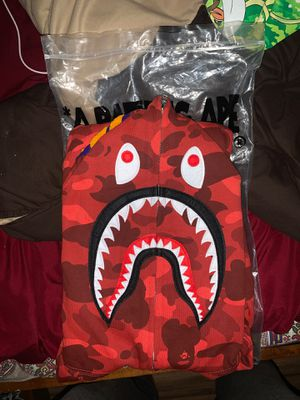 Large red bape hoodie for Sale in Dover, NJ
