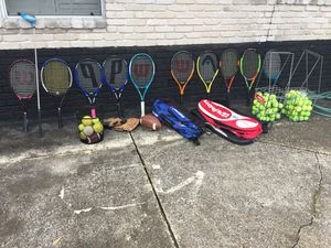 Tennis rackets,balls,carrier and bags for Sale in Houston, TX