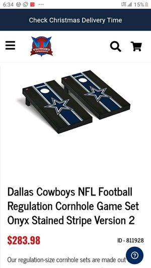 Cowboys corn hole game boards for Sale in Dallas, TX