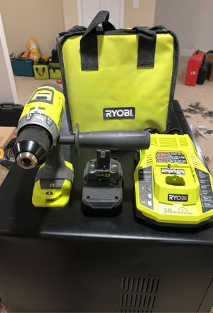 Ryobi two speed hammer drill with handle battery charger and case for Sale in Dearborn, MI