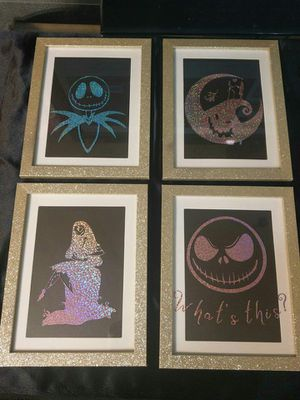 4 piece holographic wall art NBC nightmare before Christmas for Sale in Auburn, WA