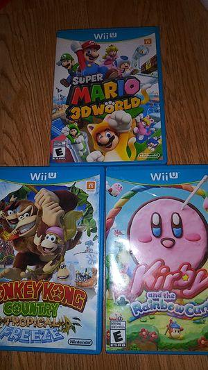 Wii u Nintendo video games bundle for Sale in Marysville, WA