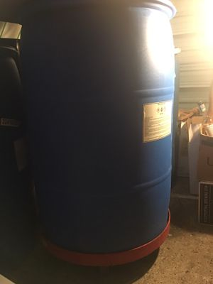 Plastic 55 gal barrel first come first serve... best offer for Sale in Tampa, FL