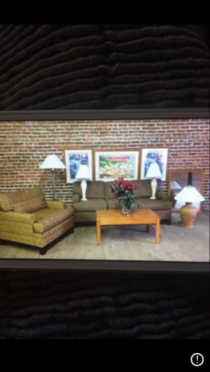 Sofa bed, chair, table, lamp, picture for Sale in Charleston, WV