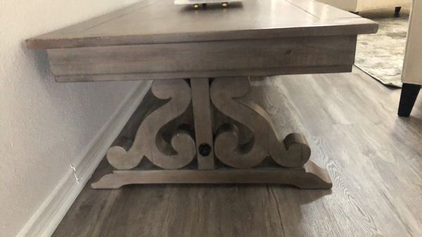 Gray wood coffee table