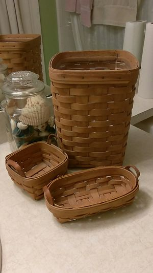 I have a nice collection of Longaberger Baskets. Message me if you are seriougsly interested 😄 These are only a few of them! for Sale in Port Richey, FL