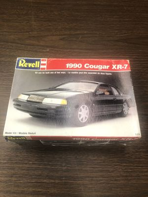 1990 COUGAR XR-7 REVELL 2N1 1:25 SCALE SKILL 2 VINTAGE PLASTIC MODEL KIT #7185 for Sale in San Jose, CA