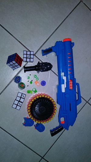 Nerf gun, blade blades,rubix cube for Sale in Stuart, FL
