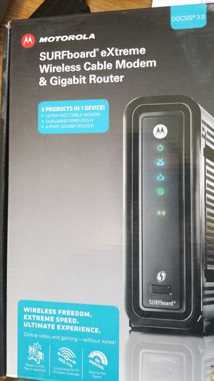 Motorola Surfboard extreme wireless cable modem & gigabit router for Sale in Nashua, NH