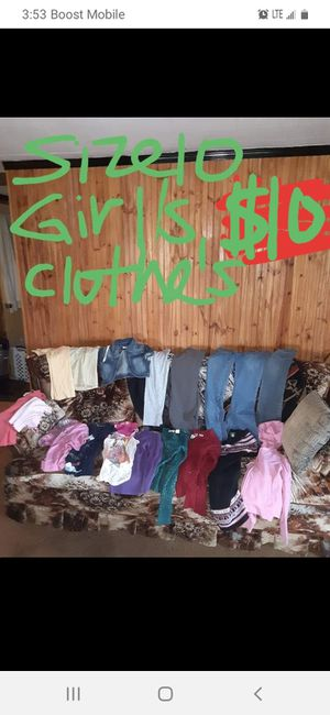 Girls size 10 clothes good condition for Sale in Saint Thomas, PA