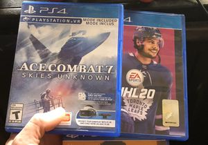 Ps4 games Ace Combat 7, NHL 20, Battlefield 1, Rainbow 6 siege for Sale in Oak Grove, KY