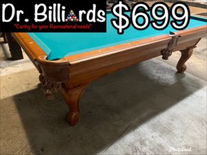 American Heritage 8' Pool Table, new cloth any color for Sale in Miami, FL