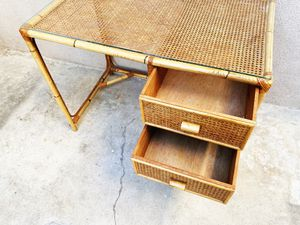 Vintage Bamboo Desk for Sale in Seal Beach, CA