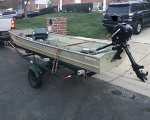 Jon boat, with trailer, Mercury 3.5 brands new. for Sale in Fort Washington, MD