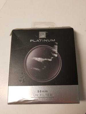 58 mm uv filter for Sale in Tampa, FL