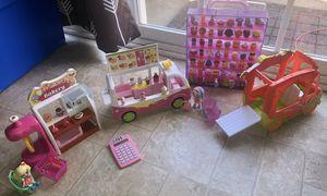 Shopkins lot, over 50 shopkins, plus dolls, vehicles and more! for Sale in Murfreesboro, TN