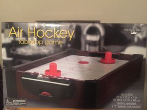 New!! In original box Fun!! Put down the phones come on !!Table top Air Hockey for the whole family for Sale in Northfield, OH