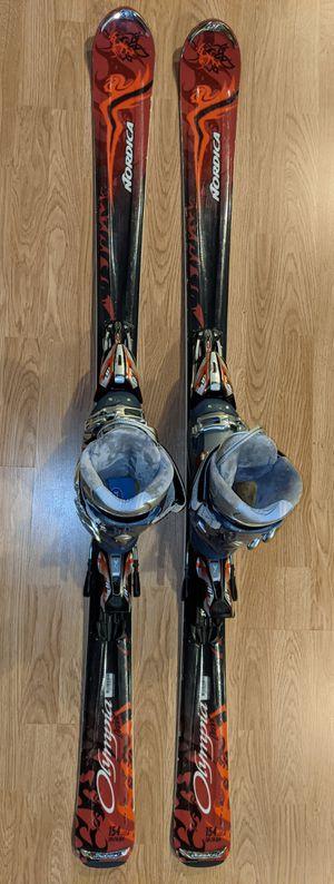 Skis Nordica Olympia Drive 154cm (119-74-194) & Technica Vento 8, size M 6.5-7, W 7-7.5, Mondo points 284mm for Sale in Kirkland, WA