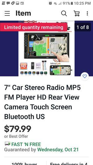 NIB SWM 7 Inch Car Stereo MP5 Bluetooth Rear View Carplay for Sale in Austin, TX