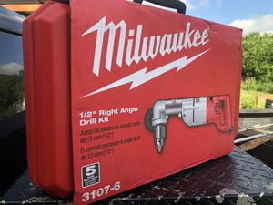 Milwaukee right angle drill kit for Sale in Round Rock, TX